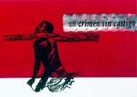 Un crimen sin castigo, 1997/99, Screen printing on canvas, Unique piece, 145x100cm