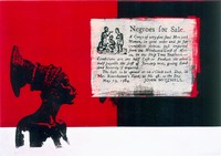 Negroes for Sale, 1997/99, Screen printing on canvas, Unique piece, 145x100cm
